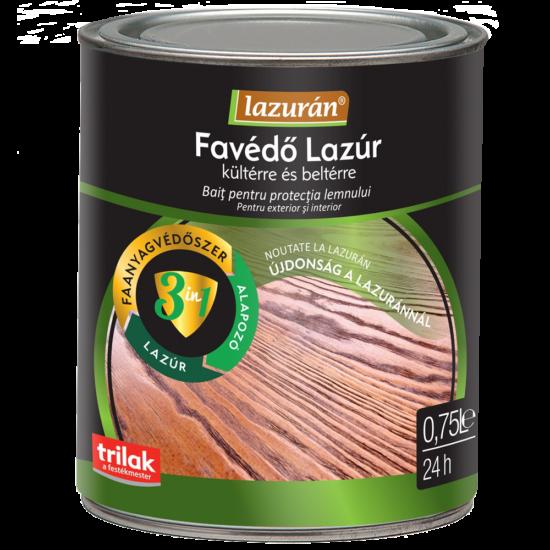 Lazurán Aqua favédő lazúr 3in1 - Oldószeres vékonylazúr