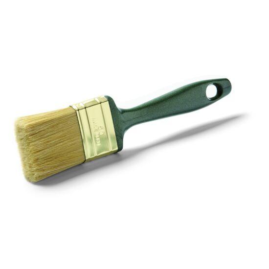 Lakkozó ecset 80 mm, kevert sörte,zöld műanyag nyél