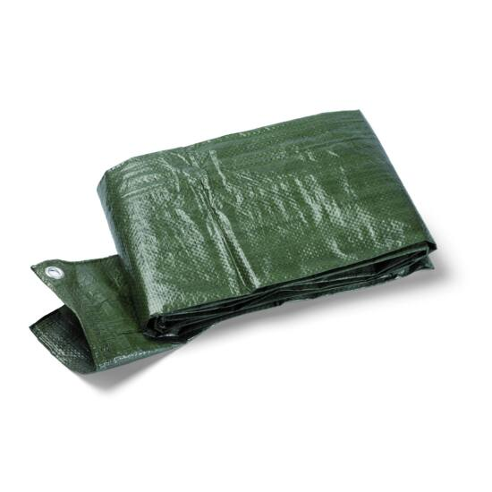 Védőponyva 4 x 5 m zöld 90 g / m2, fémgyűrűs