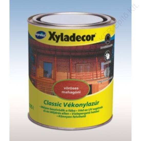 Supralux Xyladecor Classic Vékonylazúr Vöröses Mahagóni