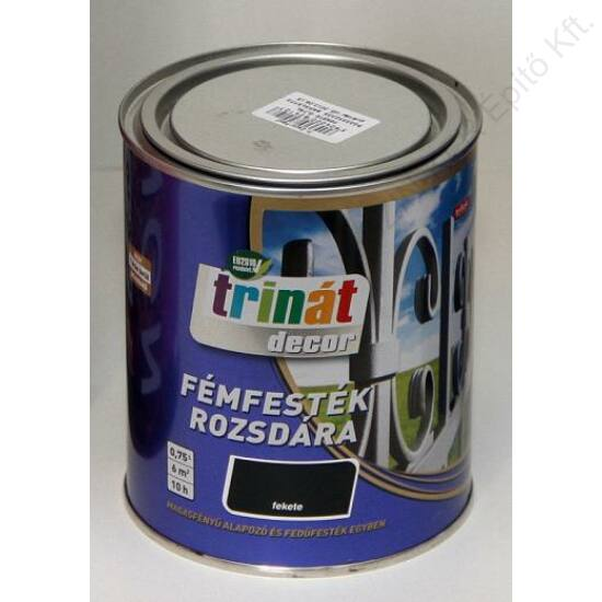 Trinát Decor Fémfesték Kalapácslakk Ezüst 0,75l